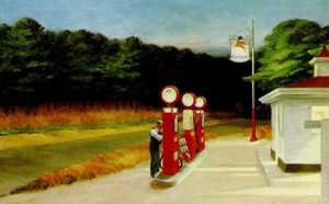 Hopper gas station